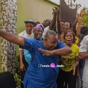 Hilarious Photos Of 'Oga Bello' & His Son, Femi Adebayo Trying The Dab Dance
